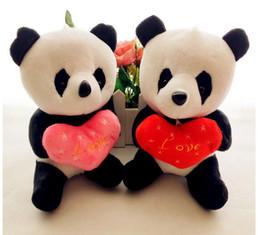 $enCountryForm.capitalKeyWord NZ - New 18CM cute love heart plush toy Stuffed Animal Children Kids Birthday Gift