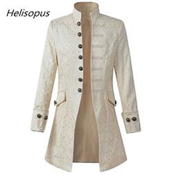 $enCountryForm.capitalKeyWord Canada - Helisopus Fashion Men Jacket Gothic Brocade Jacket Frock Coat Long Sleeve Stand Collar Open Stitch