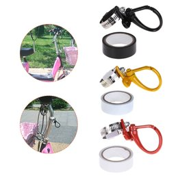 Wholesale Bar Gadgets NZ - 19mm-38mm Stainless Steel Scooter Hook Bike Front Helmet Bags Claw Hanger Luggage Gadget Carrier With Tape