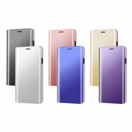 SamSung galaxy a8 flip caSe online shopping - Mirror Plating View Window Case Stand Flip Folio Leather Plastic Cover For Samsung Galaxy A8 A8 PLUS NOTE NOTE J7 Plus