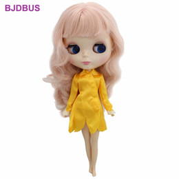 $enCountryForm.capitalKeyWord Canada - Elegance 1 Pcs Dress Long Sleeves Golden Party Dinner Wear Sexy Skirt Clothes For Blythe Doll 11'' Accessories Kids Xmas Gifts