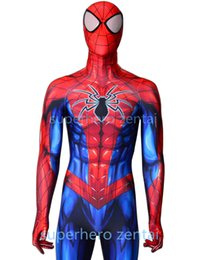 $enCountryForm.capitalKeyWord UK - Newest Spiderman Costume Movie Cosplay Zentai Spandex bodySuit Halloween Spiderman Superhero Catsuit Adult Kids custom