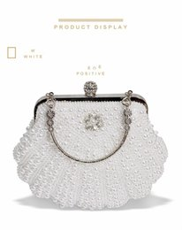 Ivory Hand Bags NZ - New 2018 White Flowers Evening Hand Bag Noble Ladies Pearl Wedding Party Dressed Clutch BagsRhinestone Bow Mini Purse bolsos mujer