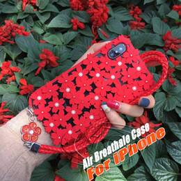 drop proof phone 2019 - Cherry blossoms Rhinestone Hollow Silica gel Phone Case For iPhone X for iphone 8 7 6 and iphone8 Durable Drop-proof bac