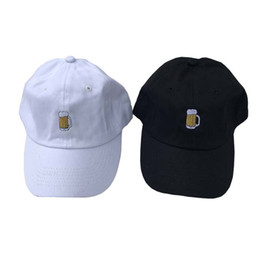 Chinese  Beer Embroidery Cotton Dad Hats Fashion Casquette Adjustable Baseball Cap Touca Men Women Hip-Hop Cap Bone Hats manufacturers