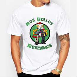 Men chicken online shopping - 2018 Men S Fashion Breaking Bad Shirt Los Pollos Hermanos T Shirt Chicken Brothers Short Sleeve Tee Hipster Hot Sale Tops T shirt