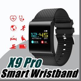 Braccialetto intelligente X9 Pro per Android IOS Bluetooth Fascia frequenza cardiaca Pedometro pressione del telefono intelligente Wristband PK xiao mi band2 F1 S2 N-SH