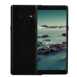 Goophone Screens Canada - Cheap Face ID Goophone Note9 Note 9 V2 Clone 1GB 16GB+32GB 3G WCDMA Quad Core MTK6580 6.3 inch Curved Full Screen GPS Metal Frame Smartphone