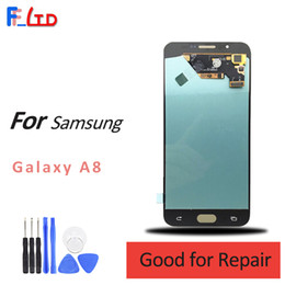 $enCountryForm.capitalKeyWord Canada - Super AMOLED LCD for Samsung A8 LCD Display Digitizer Screen Assembly A800 Replacement lcd 100% Tested