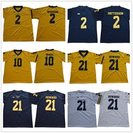 2018 2019 Michigan Wolverines Jersey Vapor Untouchable 2 Charles Woodson  Shea Patterson 10 Tom Brady 21 Desmond Howard White Yellow Navy 7afb99bce