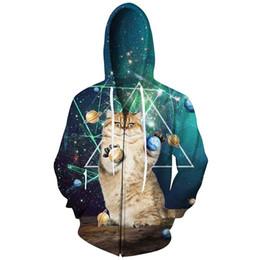 Space Galaxy Cat Hoodies Men 2018 New Fashion 3D Printed Hooded Hoody Tops  Casual Hip Hop Streetwear Sweatshirt Men aef41d5db387