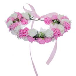 $enCountryForm.capitalKeyWord UK - Women Bezel Flowers on Head AWAYTR Girls Flower Crown Wreath Wedding Bridal Hair Accessories Double Foam Rose Floral Headband