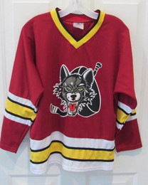 Jerseys Wolf Australia - Vintage Chicago Wolves Hockey Jersey Embroidery Stitched Customize any number and name Jerseys