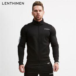 Tracksuits Jacket Canada - 2018 Running Jacket Men Long Sleeved Hooded Jackets Striped Zipper Coat Fitness Sweatshirts Gym Workout Tracksuit Sportswear