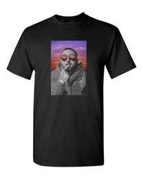 Custom Print T Shirt Cheap Australia - MAC MILLER SWIMMING MEN'S HEAVY COTTON T-SHIRT TEE NEW - BLACK 2018 hot tees custom printed tshirt free shipping cheap tee