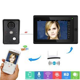 doorbell intercom system wireless 2019 - Wired Wireless Wifi Video Door Phone Doorbell Intercom Entry System With 7inch Monitor Screen+ IR COMS Outdoor Camera Ho