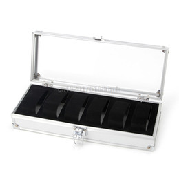 Wholesale Watch Box Grid Insert Slots Jewelry Watches Jewelry Display Storage Box Case