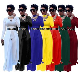 $enCountryForm.capitalKeyWord Canada - wholesale 2018 New Fashion Long Jumpsuits and Rompers For Women Party Clubwear Playsuits Wide Leg Bodysuit Plus Size S-XXL(No Belt)