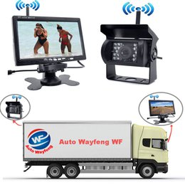 """Night Vision Zoom Australia - Wireless IR Rear View Car DVR Recorder Back up Camera Night Vision System+7"""" Monitor for RV Truck Free Shiping"""
