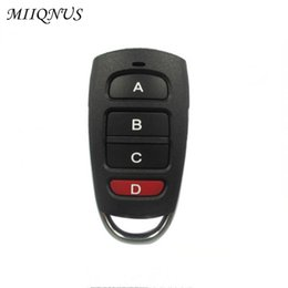 Door Remote Control 315mhz Electric Garage Door Remote Control Key Fob 4 Buttons Touch Switch Copying Transmitter Cloning Duplicator Garage Opener Attractive Appearance
