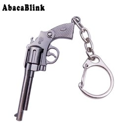 Chinese  15 Styles Cute Toy Guns Keychain Metal  Model Revolver Desert Eagle  Car Keyring Fashion Men Key Chains With Gift Box manufacturers