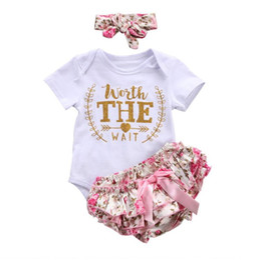 689cebbfadc9 3PCS Set Cute Newborn Baby Girl Clothes Worth The Wait Baby Bodysuit Romper+Ruffles  Tutu Skirted Shorts Headband Outfits