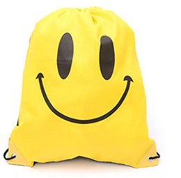 Backpack for gym online shopping - Emoji Drawstring backpack Smile backpack Drawstring bag Emoji Drawstring Bags for Women Mens Children Cartoon Unisex Emoji bag KKA4311