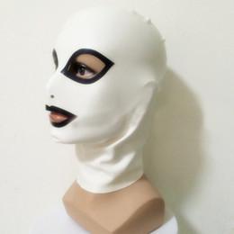 latex fetish hoods mask 2019 - 2018 New Sexy Bodysuit exotic Female unisex handmade white Women Latex Hoods Mask Open Eyes&mouth spliced color Common H