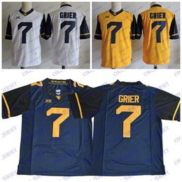 ... ncaa west virginia mountaineers wvu 7 will grier college football  jersey stitched blue white yellow west 62876f390