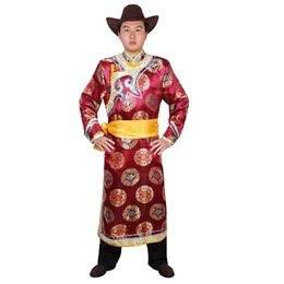 $enCountryForm.capitalKeyWord UK - Mongolian men costume Male festival dance performance clothes robe men's clothing mongolia national male gown carnival fancy vestido