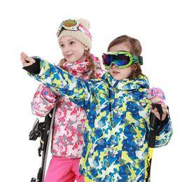 $enCountryForm.capitalKeyWord NZ - Jacket+Pants Baby Cute Ski Suit Children Winter Waterproof Kids Ski Outdoor Professional Warm Hooded Snowboard Sports Suits