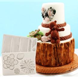 $enCountryForm.capitalKeyWord NZ - Succulents & Tree Bark Silicone Mold Fondant Mould Cake Decorating Tools Chocolate, Gumpaste Mold, Sugarcraft Kitchen, Gadgets