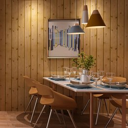 Discount green room decor - Home Improvement 3D Wood Board Wallpaper For Walls Living Room Bedroom Background Wall Paper PVC Waterproof Wall Coverin