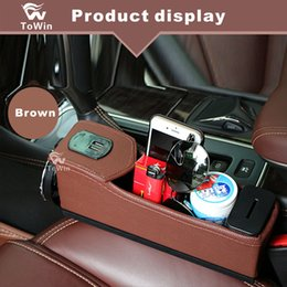 $enCountryForm.capitalKeyWord NZ - Car Seat Filler Gap Space Storage Box Bottle Cup Holder Coin Collector Car Interior Accessories black beige brown black and red.