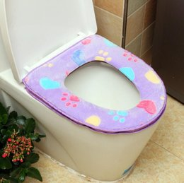 warm toilet seat covers NZ - 4 Colors Toilet Seat Cover - Winter Bathroom Products Warmer Thick Soft Comfortable Closestool Seats Case - Bathroom Accessory