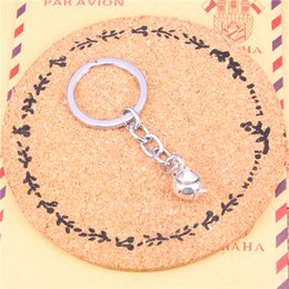 $enCountryForm.capitalKeyWord Canada - Keychain 3D teapot Pendants DIY Men Jewelry Car Key Chain Ring Holder Souvenir For Gift