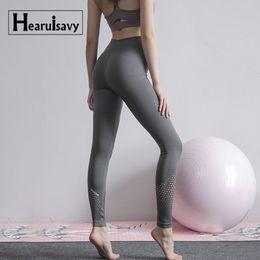 Discount navy blue yoga pants - Reflective Navy Mesh Sport Leggings High Waist Jogging Pants Length Running Tights Women Yoga Fitness Capri Gym Legging