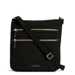 triple zipper bag Australia - Iconic Triple Zip Hipster Crossbody Shoulder Bag Purse Satchel Messenger