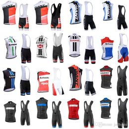 Discount giant bicycle team jersey - GIANT team Cycling Sleeveless jersey Vest (bib)shorts sets men High-Quality Breathable Bicycle Clothing bib shorts D1208