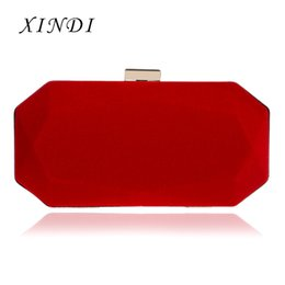 Handbag Materials NZ - Metal Hasp Evening Bags With Chain Shoulder Evening Bags Velvet Soft Material Mixed Color Small Purse Diamonds Clutches handbags