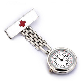 nurse doctor pocket watch 2018 - Fashion Medical Nurse Quartz Pocket Watches Doctor Stainless Steel Thicker Chain Man Women Brooch Fob Watch cheap nurse
