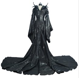 Maleficent Movie Costumes UK - Easter costume for adult men women Maleficent dress maleficent costume adult sexy dress Custom made cosplay suit