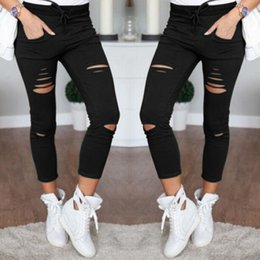 $enCountryForm.capitalKeyWord Australia - S-4XL Europe and The United States Ms. Casual Casual Pants Female Cotton Wild Nine Pants New Hole Jeans Leggings