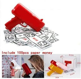 $enCountryForm.capitalKeyWord NZ - Make It Rain Money Gun Cash SS17 with 100PCS Bills Fashion Party Gift Game Christmas Red Funny Pistol Toy for fun