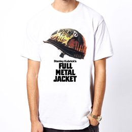$enCountryForm.capitalKeyWord NZ - Full Metal Jacket Vietnam film Kubrick movie men white t-shirt