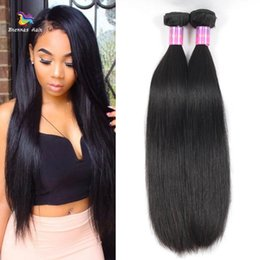 High Quality Bundle Human Hair NZ - 8-30 inch High Quality Peruvian Virgin Remy Human Straight Hair Bundles 100% Unprocessed Natural Black Color Wholesale Price
