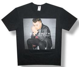 Tee Cotton Australia - Sam Smith-In The Lonely Hour-2014 Tour-Black Lightweight T-Shirt T Shirt Men Boy Summer Short Sleeve Cotton Custom XXXL Party Tee Shirts