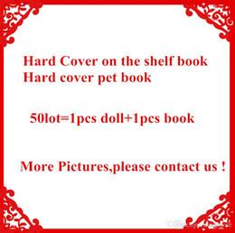 Figures Australia - Free DHL Plush ELF Dolls Red Girl & Boy Figure Christmas elves Hard Cover PET Book of Christmas Novelty Toys Xmas Gift For Kids Holiday Gift