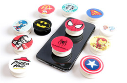 Real stand online shopping - Universal Degree Super Hero Cell Phone Holder Real M glue Tape Grip Finger Stand Flexible For iPhone X plus Samsung
