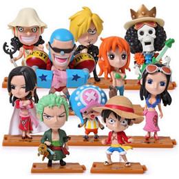 $enCountryForm.capitalKeyWord NZ - 10PCS set One Piece Luffy Zoro Sanji Hancock Action Figures PVC Anime Toys Japanese Cartoon Doll Toys Luffy Sauron Choba doll